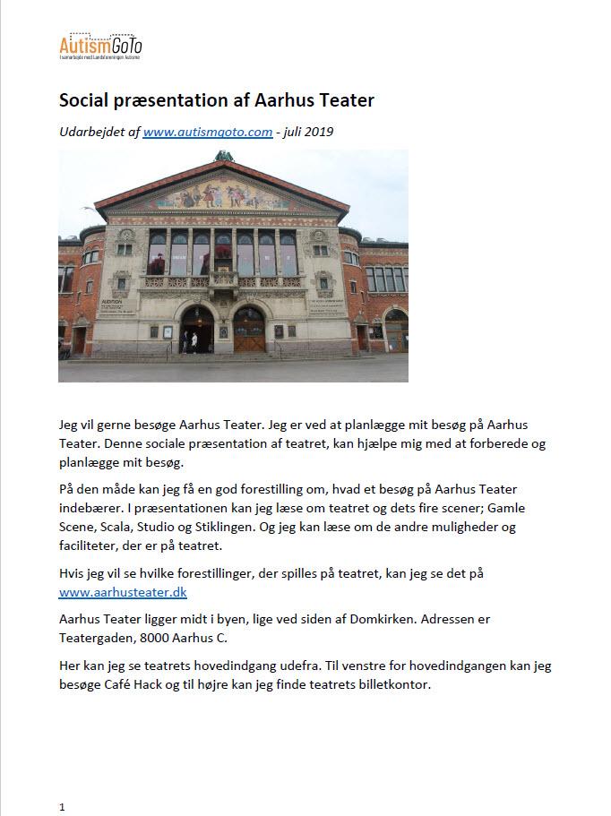 Aarhus Teater - foto social præsentation