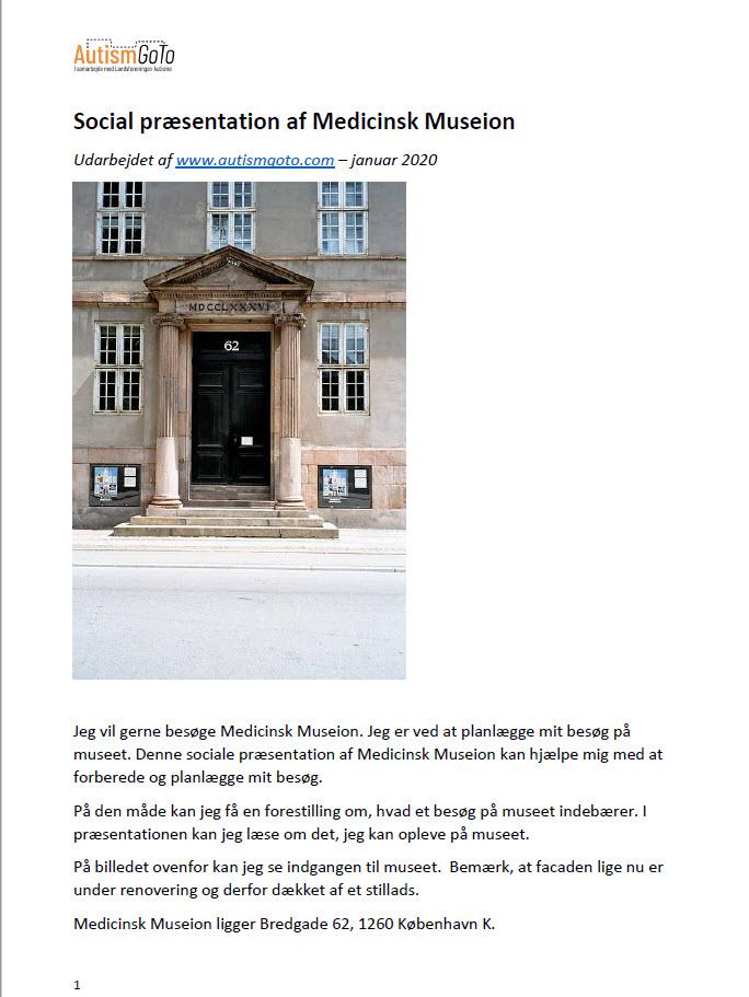 Medicinsk Museion - foto social præsentation