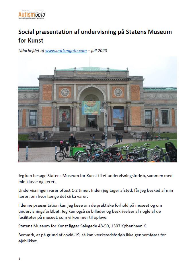 Statens Museum for Kunst Skoletjenesten - foto social præsentation