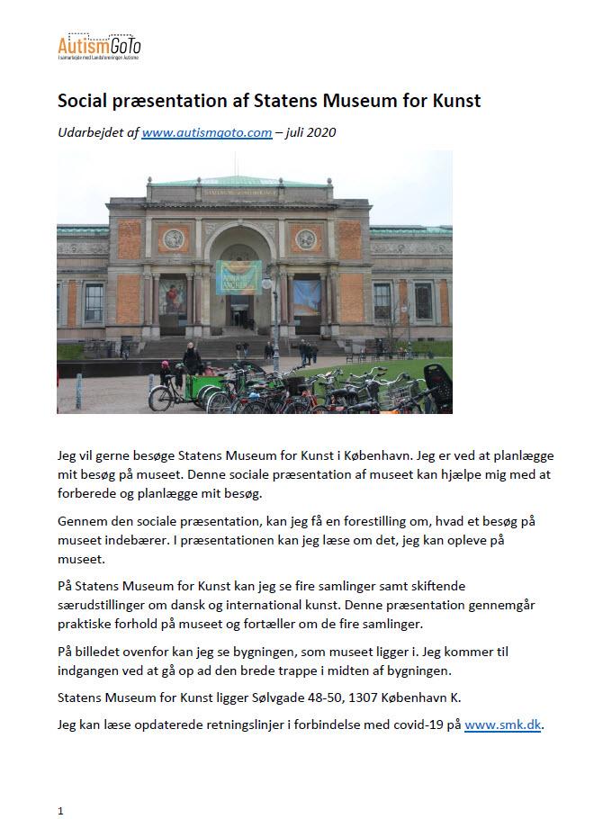 Statens Museum for Kunst - foto social præsentation