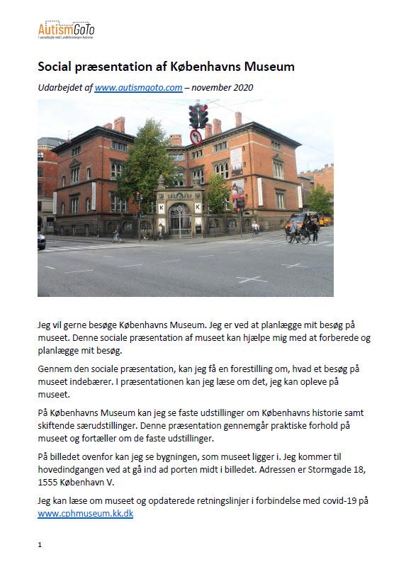 Københavns Museum - social præsentation