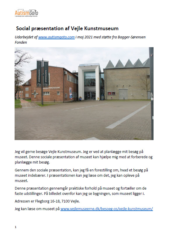 Vejle Kunstmuseum - foto - social præsentation